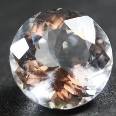 Colorless Round Gems